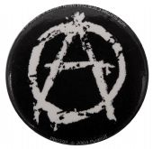 Anarchy - 'Black' Button Badge